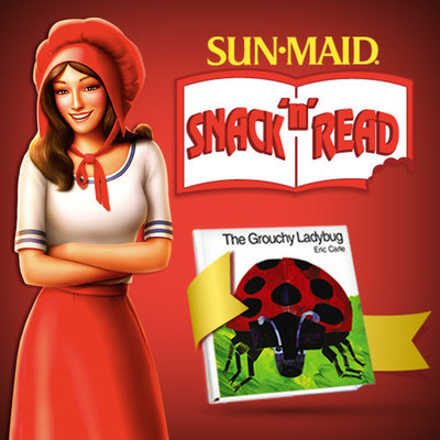 The Grouchy Ladybug is the second of three free hardcover books offered in Sun-Maid's Snack 'n' Read series in partnership with HarperCollins Publishers. People can enter to win every day. 200 winners are randomly chosen daily and 10 winners will receive a sweepstakes prize package of HarperCollins Story Time Library sets. Details at www.sunmaidoffer.com