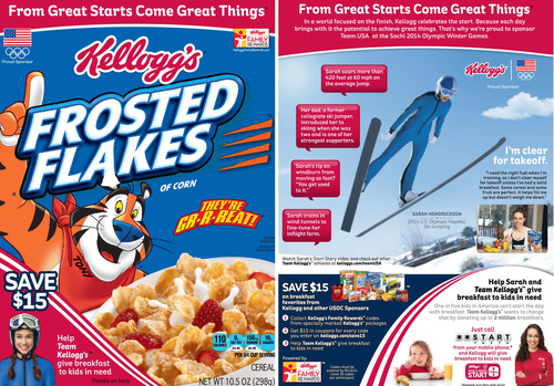 Kellogg's Frosted Flakes Celebrates Father/Daughter Bond Through Partnership with U.S. Olympic Hopeful Ski Jumper Sarah Hendrickson. (PRNewsFoto/Kellogg Company) (PRNewsFoto/KELLOGG COMPANY)