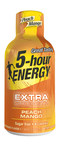 Peach mango flavored Extra Strength 5-hour ENERGY(R) shot is available now in stores and online at shop5hourenergy.com.