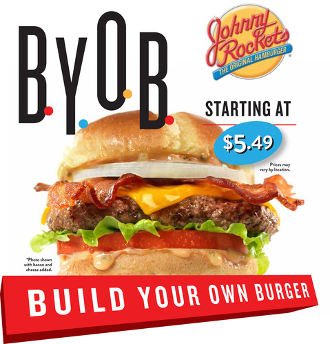 Build Your Own Burger at Johnny Rockets.  (PRNewsFoto/Johnny Rockets)
