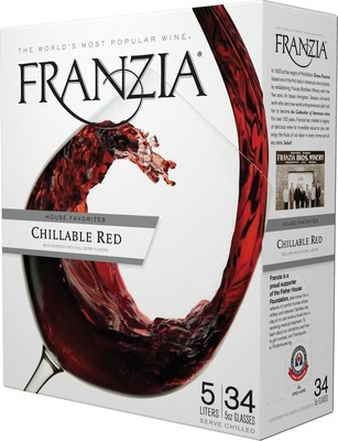 The Fisher House Foundation seal appears on the pour spout opening on each box of Franzia.