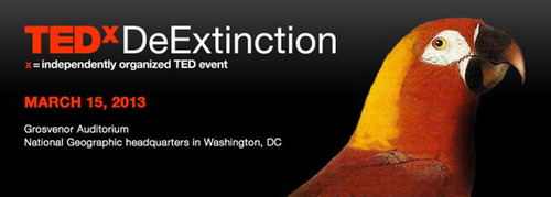 TEDxDeExtinction, hosted by the National Geographic Society in Washington, D.C., on Friday, March 15, is the first public forum on the groundbreaking science surrounding efforts to bring extinct species back to life, and the ethical and conservation issues that may arise.  (PRNewsFoto/National Geographic Society)