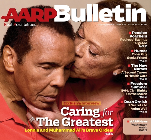 Lonnie Ali Speaks Out About The Impact Taking On The Caregiver Role Has Had On Her Relationship With Husband Muhammad Ali In A New, Exclusive Interview With AARP Bulletin (PRNewsFoto/AARP)