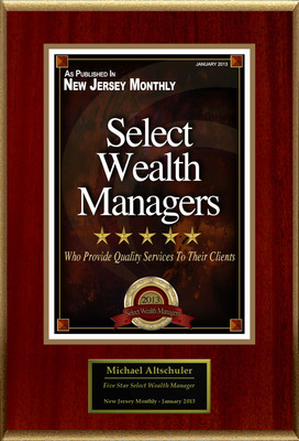 "Michael Altschuler Selected For ""Select Wealth Managers"".  (PRNewsFoto/American Registry)"