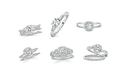 Helzberg Diamonds Goes Platinum: Platinum Bridal Collection To Debut In Select Stores Nationwide.  (PRNewsFoto/Platinum Guild International)