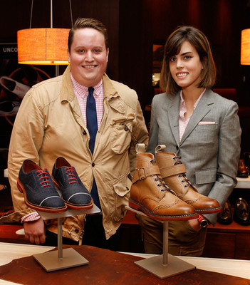 Allen Edmonds Competition Winners, Parsons Students' Patrick McCabe and Melanie Berger (C) 2012 Mark Von Holden/Mark Von Holden Photography. All Rights Reserved.