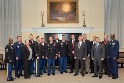 May 21, 2015 - Graduates of the Depot and Arsenal Executive Leadership Program (DAELP) Cohort XII gathered at a banquet held in their honor. (Photo: Institute for Defense and Business)