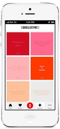 The inspired life, there's an app for that: capture, style and share quotes with Quollective.   (PRNewsFoto/Quollective Inc.)