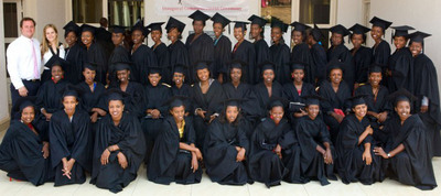 Marriott International Expands Job Partnership for Young African Women. Global Hotel Company Will Bring 24 Additional Graduates, pictured here, from Akilah Institute for Women to Train and Work in its Dubai and Doha Hotels. (PRNewsFoto/Marriott International) (PRNewsFoto/MARRIOTT INTERNATIONAL)