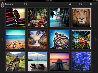 Twizgrid displays Twitter photos in a sleek grid format.  (PRNewsFoto/Twizgrid)