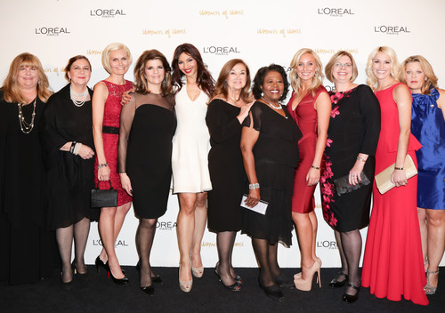 The 2013 L'Oreal Paris Women of Worth honorees, including national honoree Lauren Book and L'Oreal ...