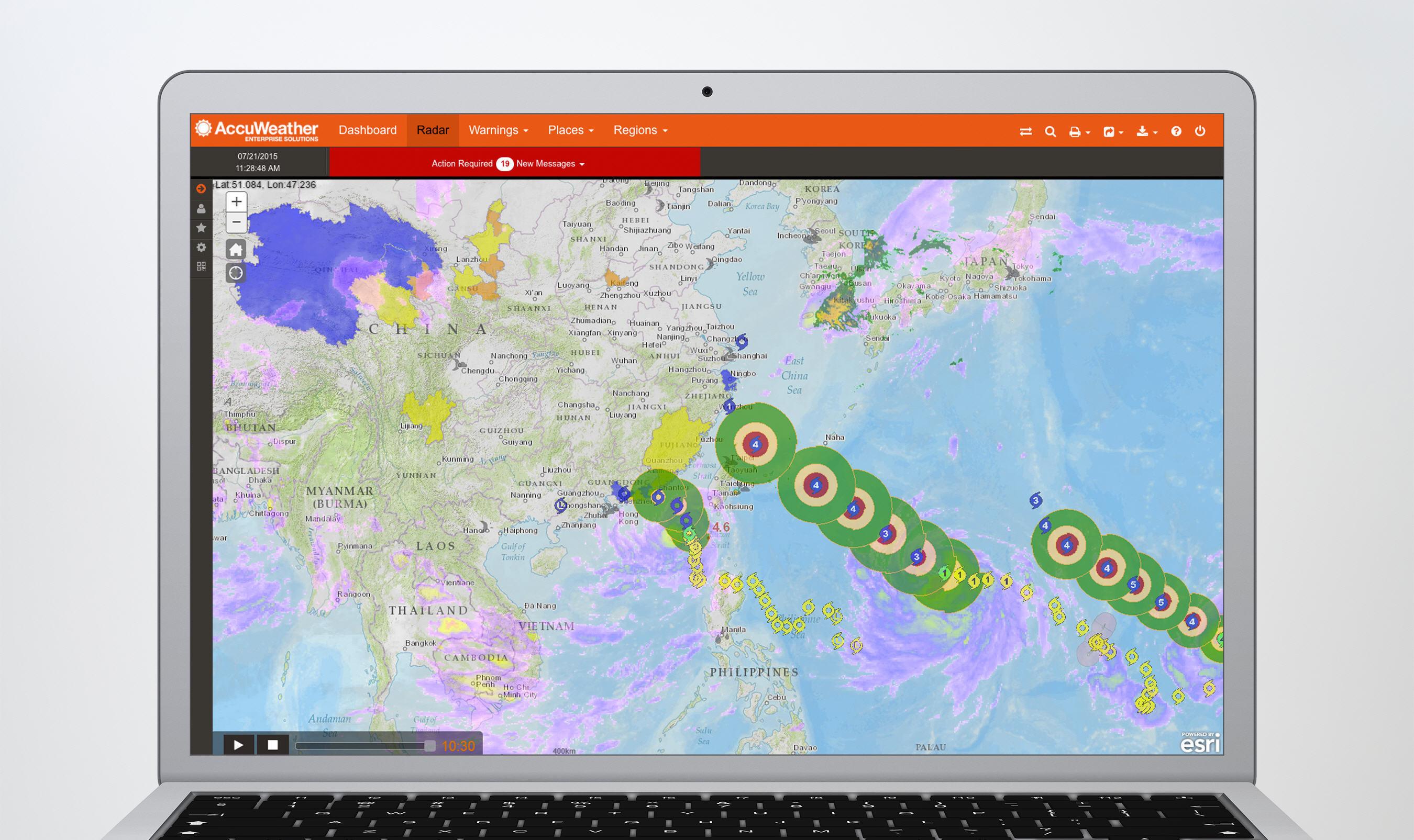 AccuWeather Enterprise Services portal delivery system