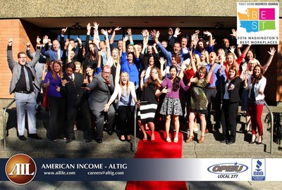 American Income-Altig named #1 Best Workplace in Washington by Puget Sound Business Journal