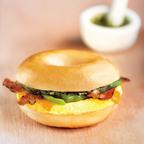 Bruegger's Bagels new Chimi-Cheddar Egg Sandwich.  (PRNewsFoto/Bruegger's Bagels)