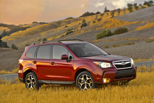 Subaru announces pricing for all-new 2014 Forester. All-wheel drive Forester priced below competitive front-wheel drive vehicles.  (PRNewsFoto/Subaru of America, Inc.)