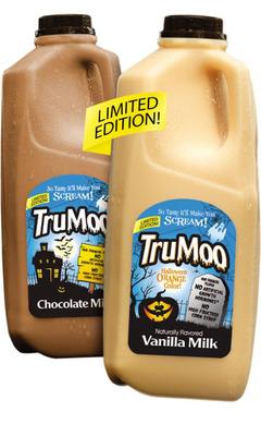 TruMoo(R) Launches Limited Edition Halloween-Themed Milks Nationwide.  (PRNewsFoto/Dean Foods Company)