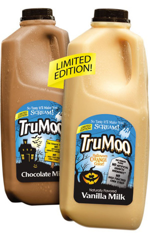 TruMoo(R) Launches Limited Edition Halloween-Themed Milks Nationwide.  (PRNewsFoto/Dean Foods Company)