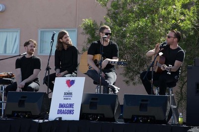Imagine Dragons performs for at-risk students during Our School is Beautiful.