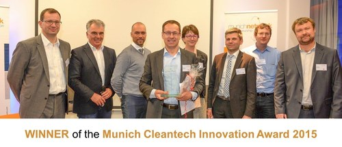 Oliotalo wins the Munich Cleantech Innovation Award 2015 (PRNewsFoto/Oliotalo) (PRNewsFoto/Oliotalo)