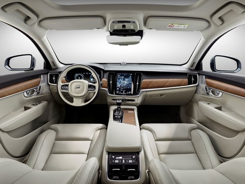 The goal was to make riding in the Volvo S90 feel like driving through the quiet, relaxed calm of the Swedish wilderness. Johnson Controls created a seating experience that supported that goal. (PRNewsFoto/Johnson Controls)