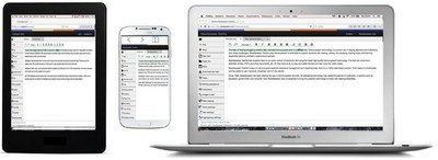 Different devices using ReadSpeaker TextAid (PRNewsFoto/ReadSpeaker)
