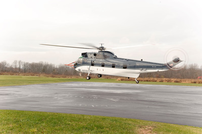 Sikorsky S-61T modernized helicopter completes its initial test flight.  (PRNewsFoto/Sikorsky Aircraft Corp.)