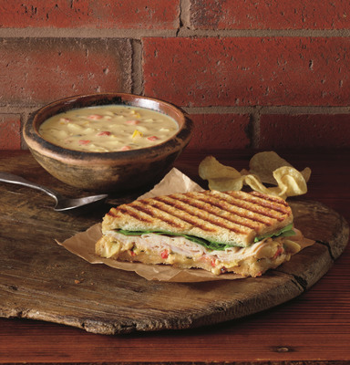 Corner Bakery Cafe's new Turkey Monterey Panini is available starting Feb. 26.  (PRNewsFoto/Corner Bakery Cafe)