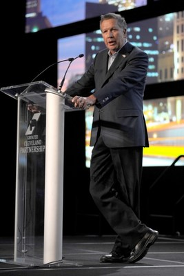 Governor John Kasich, guest speaker at the GCP 2016 Annual Meeting, talked about his Administration's success in growing Ohio jobs and economy.