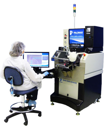 8000i Wire Bonder enables operators intuitive and dynamic control over wire bond programming and part build production through three interactive control components. (PRNewsFoto/Palomar Technologies, Inc.)