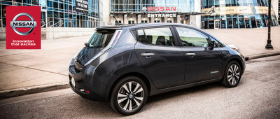 Ingram Park Nissan stocks up on the 2015 Nissan LEAF. (PRNewsFoto/Ingram Park Nissan)