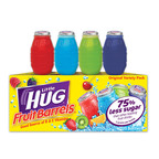 Little Hug Fruit Barrels have the taste kids have always loved, but now have only 10 calories.  (PRNewsFoto/American Beverage Corporation)
