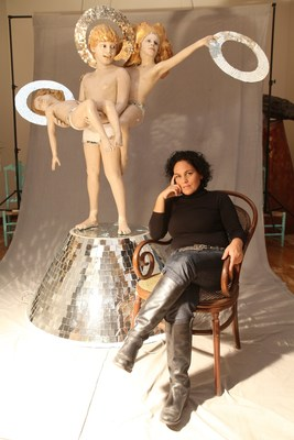 """Cristina Planas of Peru won the Emerging Voices Award in the art category for """"Vultures,"""" """"Table of Negotiations,"""" """"Mass Grave,"""" and """"Coloured Christ."""""""