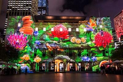 Vivid Sydney 2015: Enchanted Sydney - Customs House (Credit: Destination NSW)