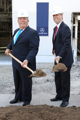 Mercedes-Benz USA Groundbreaking Ceremony At New Facility In Long Beach, California (PRNewsFoto/Mercedes-Benz USA)