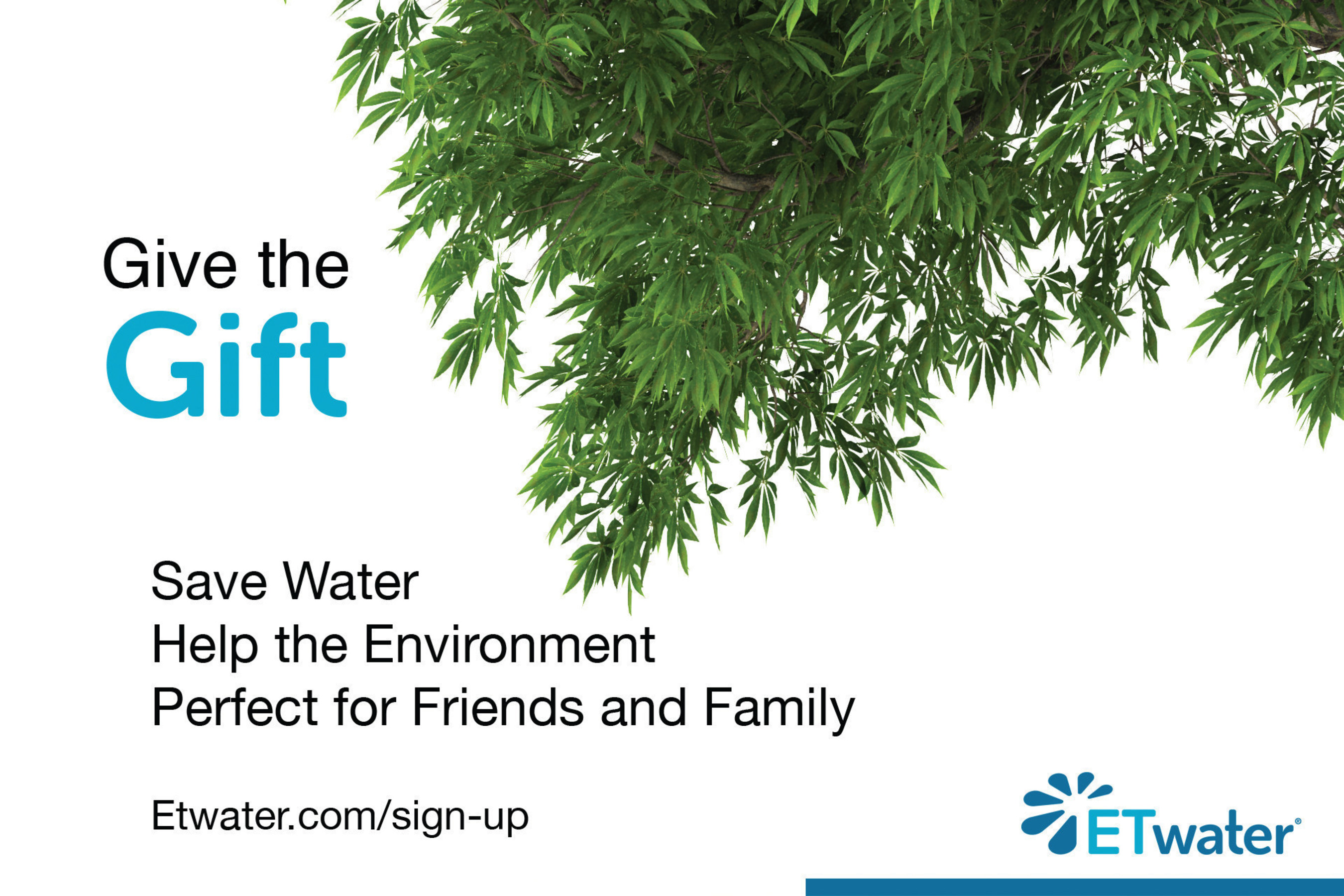 ETwater Offers the Gift of Water Conservation in Cyber Monday Special