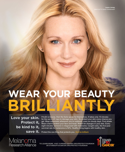 Laura Linney to appear in PSA campaign for the Melanoma Research Alliance & SU2C.  (PRNewsFoto/Stand Up To ...