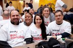 Thousands of Aramark employees join global effort to empower families to lead healthier lives and gain job skills as part of the company's global day of service.