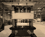 "Vari-Form, the industry leader in Pressure Sequence Hydroforming, recently retired ""Old Faithful,"" claimed to be the first machine anywhere in the world to hydroform an automotive structural part. During its 23-year lifespan, this pioneering machine produced almost ten million parts. (PRNewsFoto/Vari-Form)"