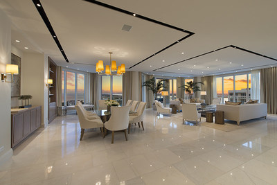 This newly completed, oceanfront penthouse at The Ritz-Carlton Residences, Singer Island, Florida will be sold at a live auction on January 16th. The sale is managed by Platinum Luxury Auctions.