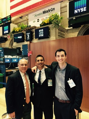 Mr Stan Wunderlich, CEO, Consulting for Strategic Growth 1 (left), Mr James Nathanielsz, CEO, Propanc Health Group Corp (center) and  Investment Banker (right), tour the New York Stock Exchange on Wednesday, May 4th.