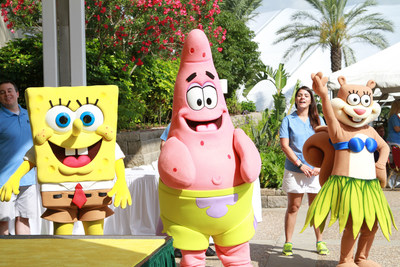 Nickelodeon characters SpongeBob SquarePants, Patrick Star and Sandy Cheeks welcomed visitors at the grand opening of Moody Gardens SpongeBob SubPants Adventure May 23