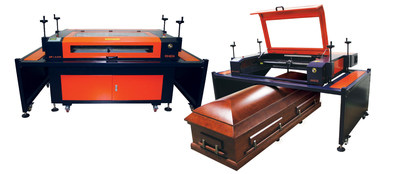 The patented AP Lazer machine, with an open architecture, can engrave from a pen to a casket or a granite monument.