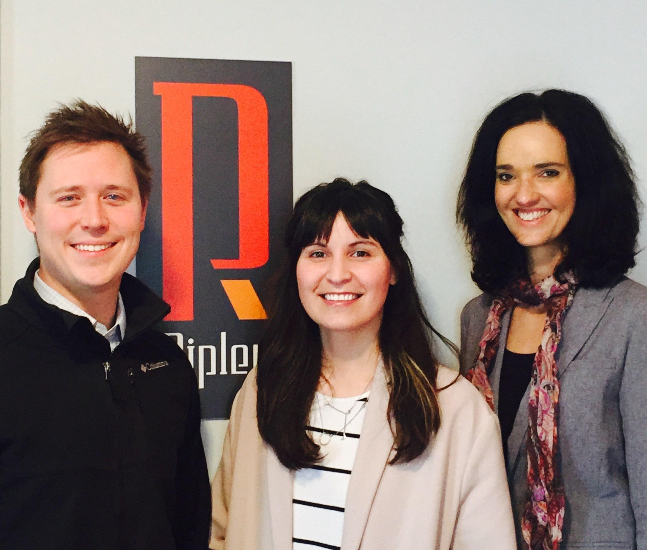 Ripley PR's three new team members: J.D. Sizemore, Abbigail Christensen and Celeste Vlok