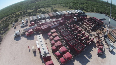 "Fracking Operatons At Breitling Energy Hoppe ""63"" #1 Well Site"