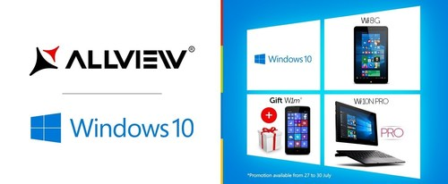 Allview presents its first Windows 10 devices (PRNewsFoto/AllView Mobile) (PRNewsFoto/AllView Mobile)