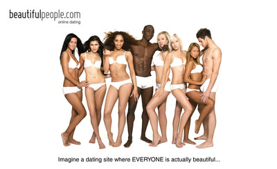 BeautifulPeople.com members in their underwear.  (PRNewsFoto/BeautifulPeople.com)