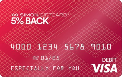 Simon has launched its 5% Back Visa(R) Simon Giftcard(R), just in time for the 2016 holiday season.