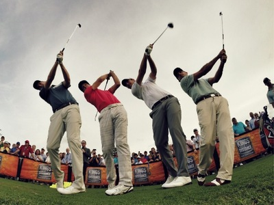 Callaway Tour Pros taking aim at the previous Kings of Distance event in Orlando, FL.  (PRNewsFoto/Callaway Golf)