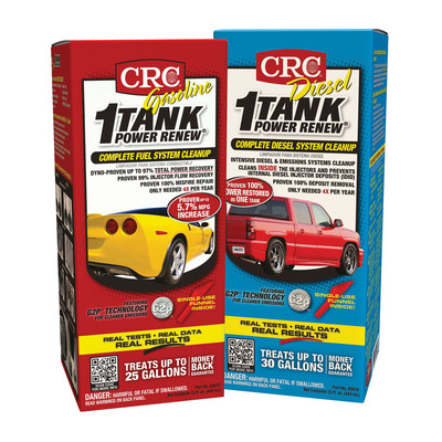 Reclaim Your Power! CRC 1-TANK POWER RENEW Complete Fuel System Cleanup, Available for Gas. (PRNewsFoto/CRC Industries, Inc.)