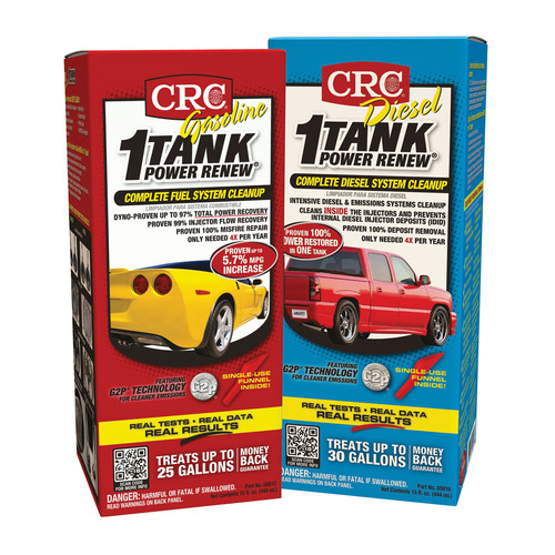 Reclaim Your Power! CRC 1-TANK POWER RENEW Complete Fuel System Cleanup, Available for Gas. (PRNewsFoto/CRC ...